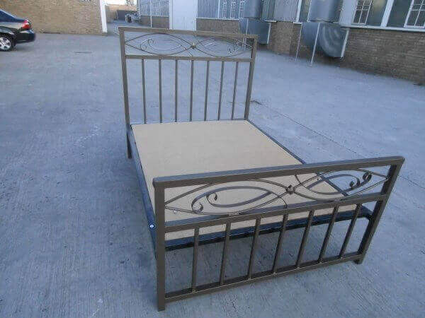 steel metal iron bed image