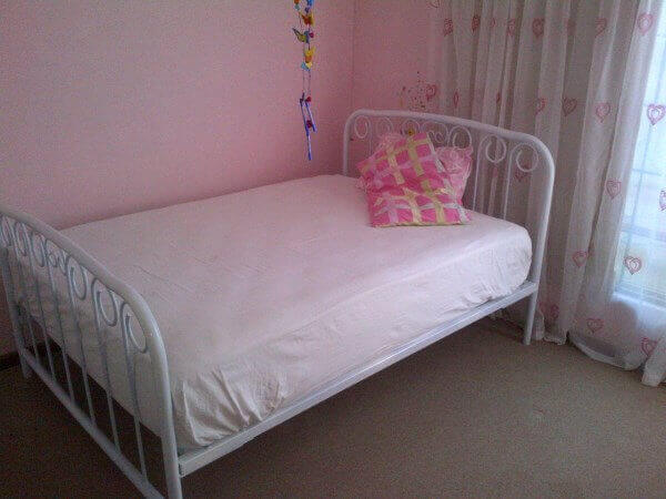 metal steel iron bed image